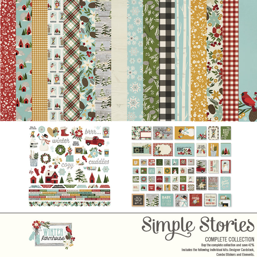 Winter Farmhouse Digital Collection Kit