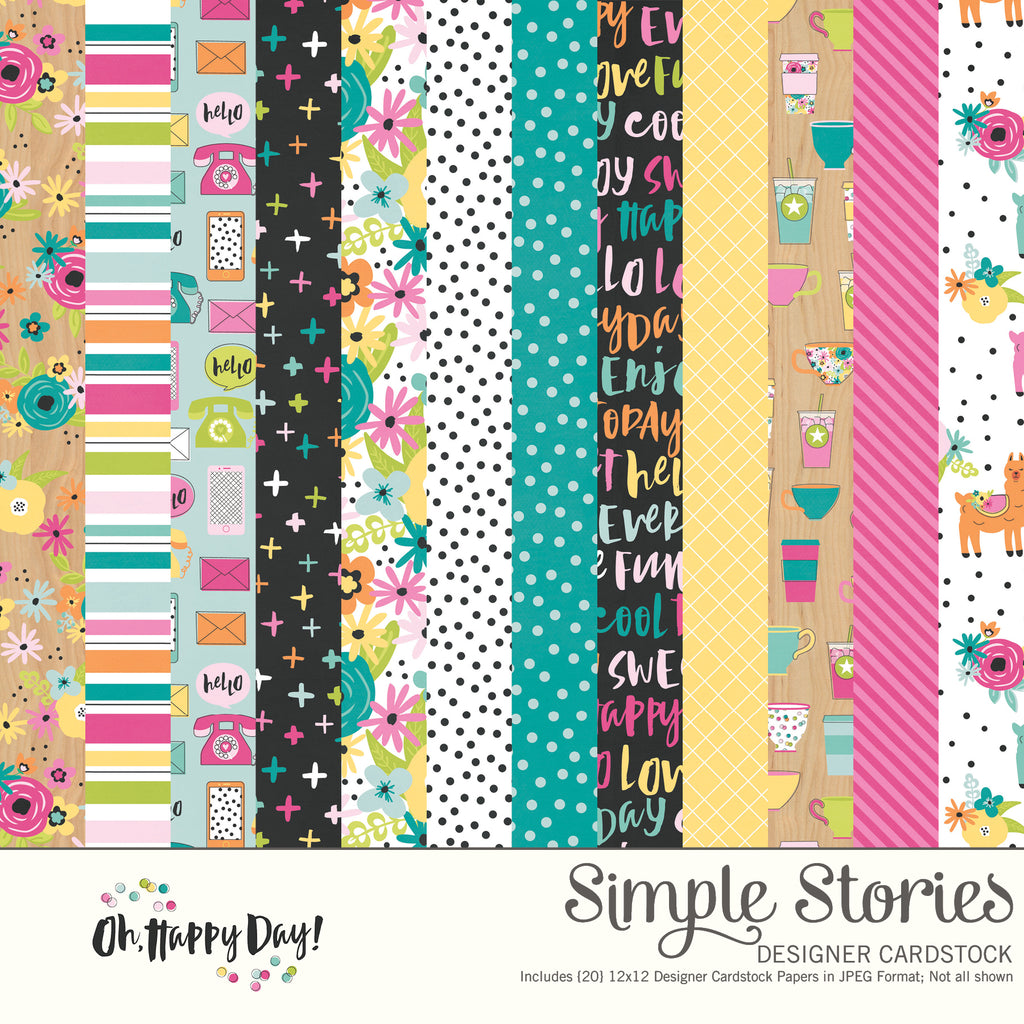Oh, Happy Day Digital Designer Cardstock