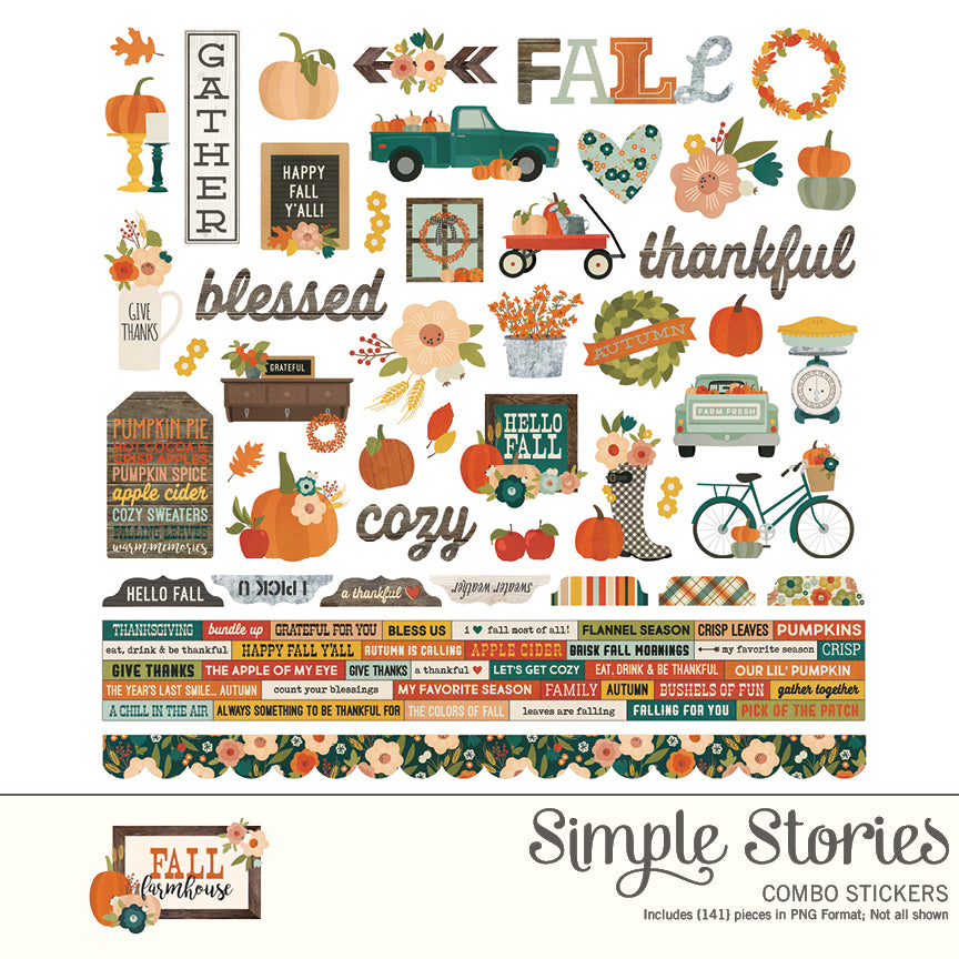 Fall Farmhouse Digital Stickers
