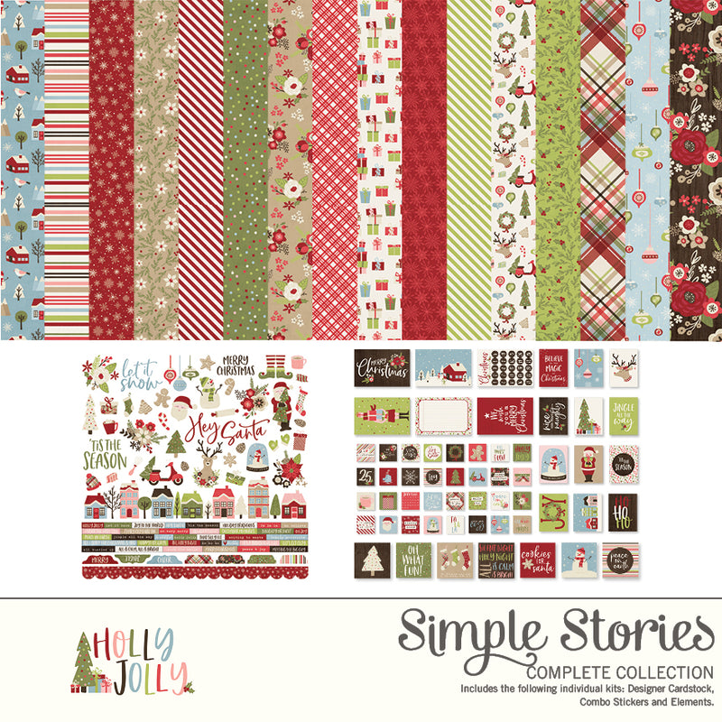 Holly Jolly Digital Designer Cardstock