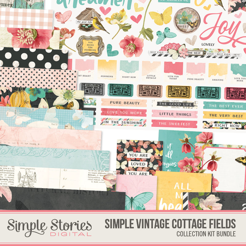 Simple Vintage Ancestry Digital Collection Kit Bundle