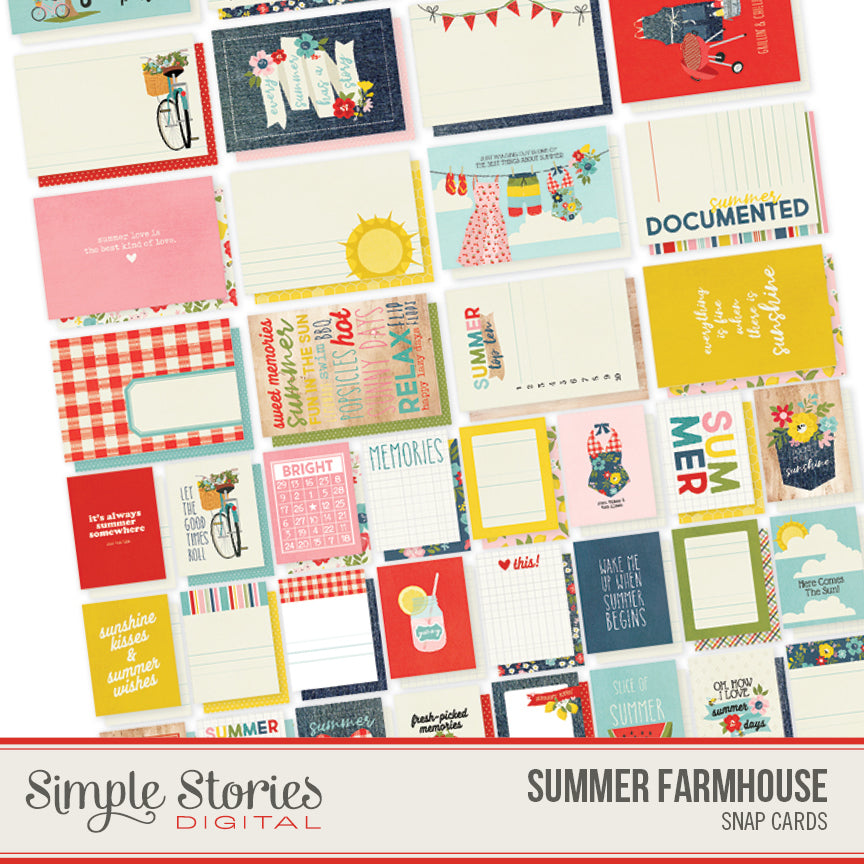 Summer Farmhouse Digital SNAP Cards