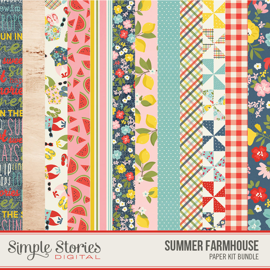 Summer Farmhouse Digital Paper Kit