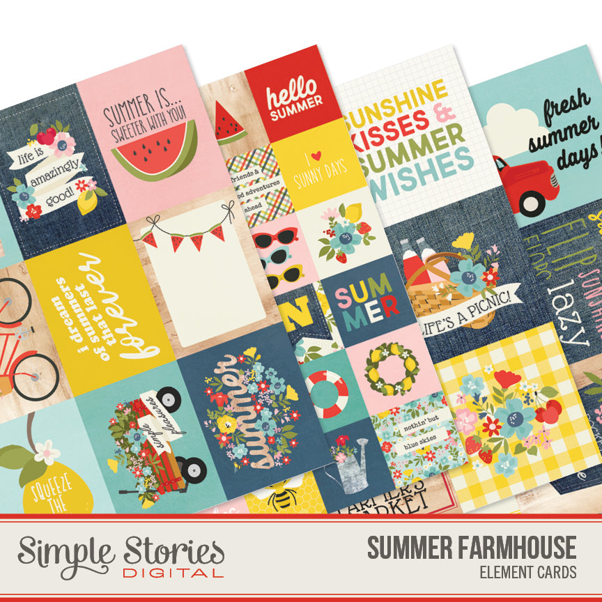 Summer Farmhouse Digital Elements