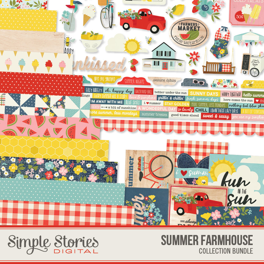 Summer Farmhouse Digital Collection Kit Bundle