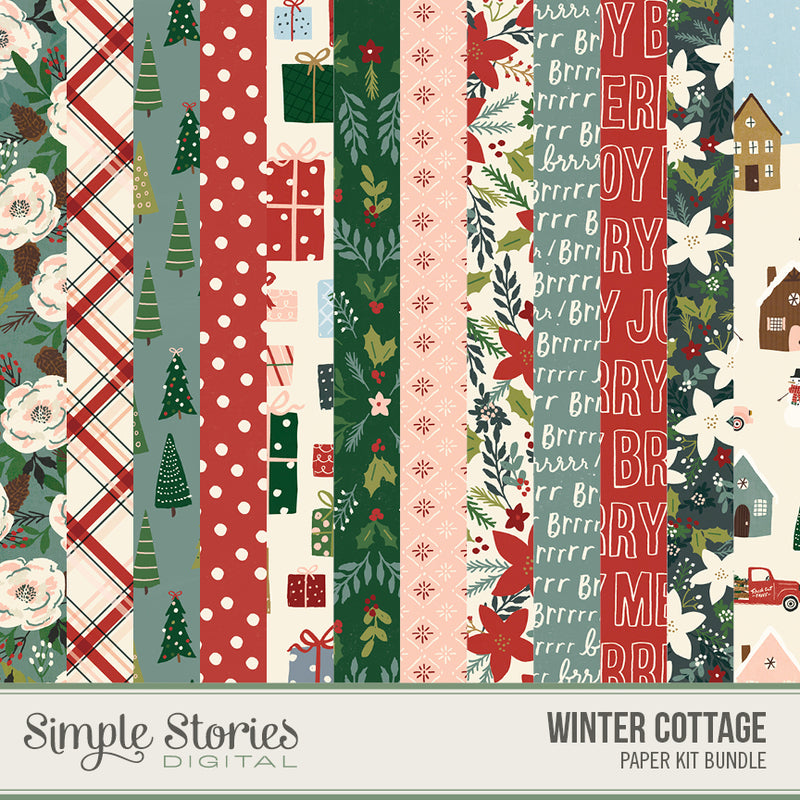 Winter Cottage Digital Embellishments