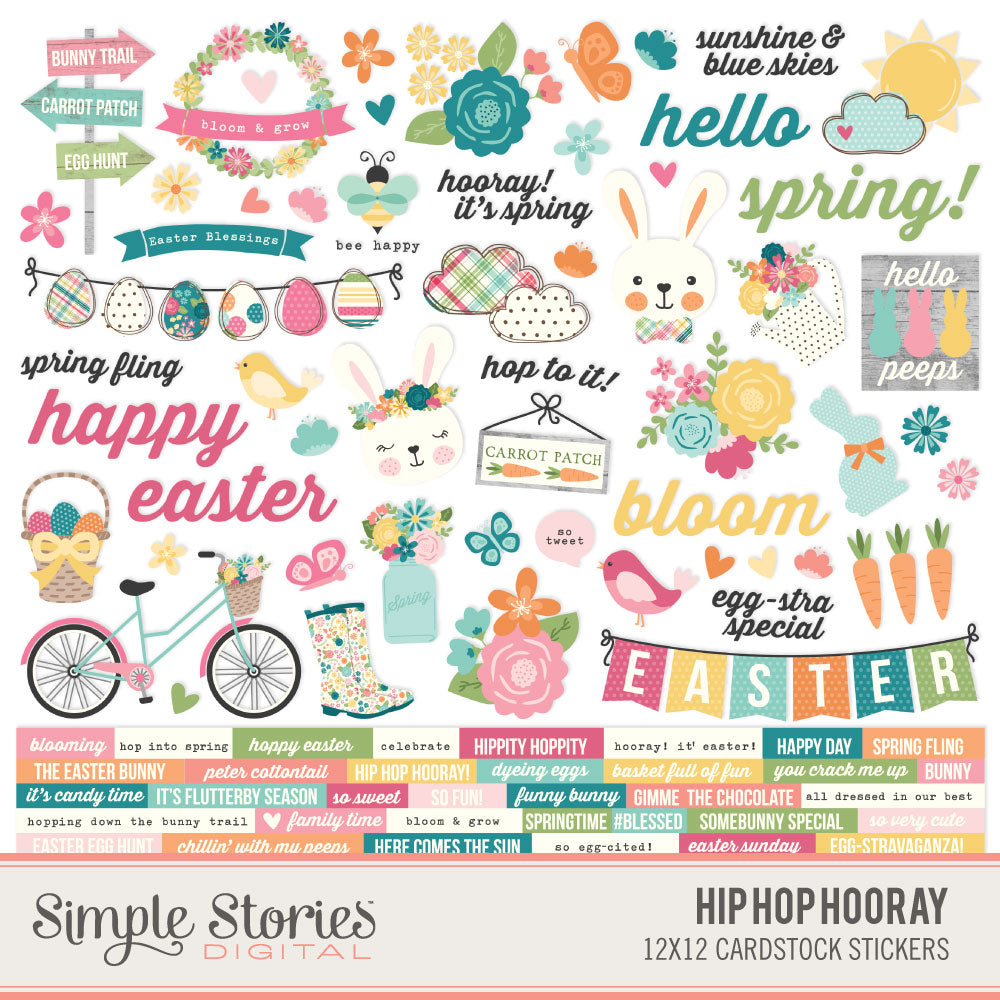 Hip Hop Hooray Digital Stickers