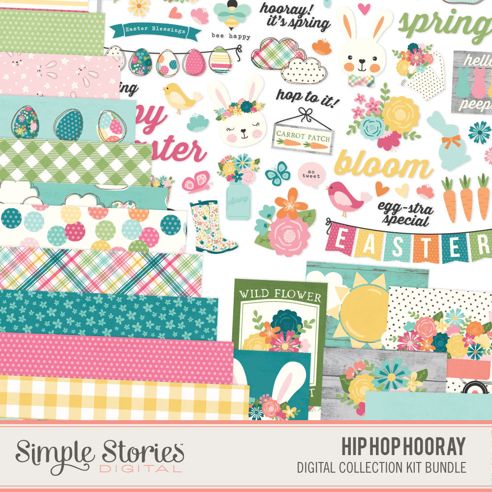 Hip Hop Hooray Digital Collection Kit Bundle