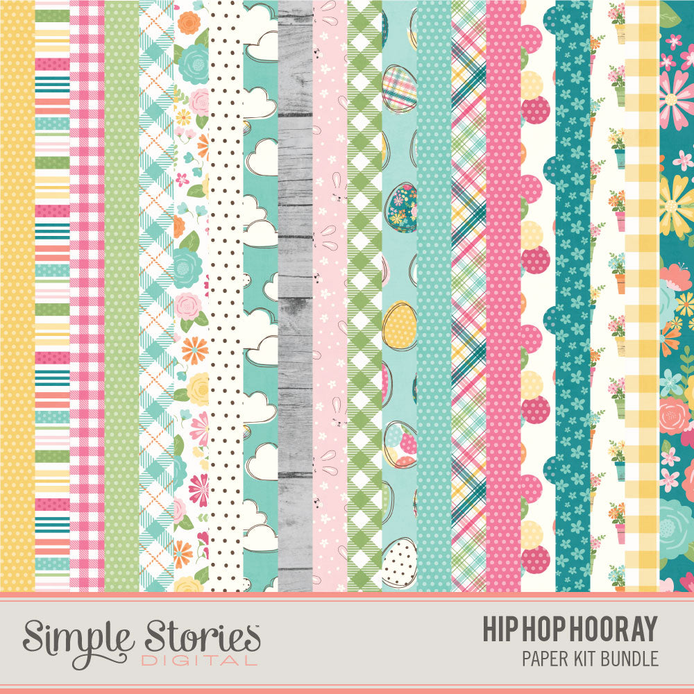 Hip Hop Hooray Digital Paper Kit
