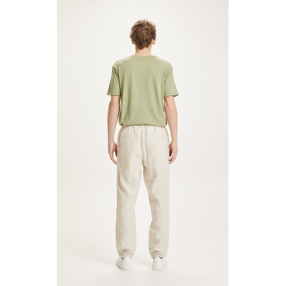FIG loose linen pant - Vegan - light feather gray