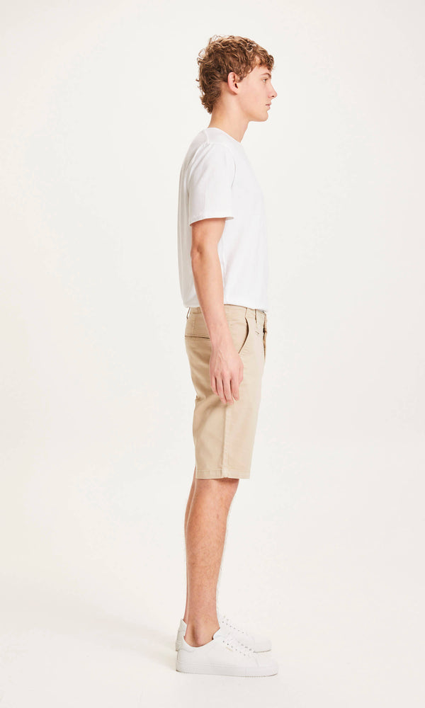 Load image into Gallery viewer, CHUCK regular chino shorts - GOTS/Vegan - light feather gray
