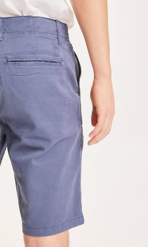 CHUCK regular chino shorts - GOTS/Vegan - vintage indigo