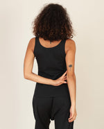 Catori Organic Cotton Yoga Top in Black