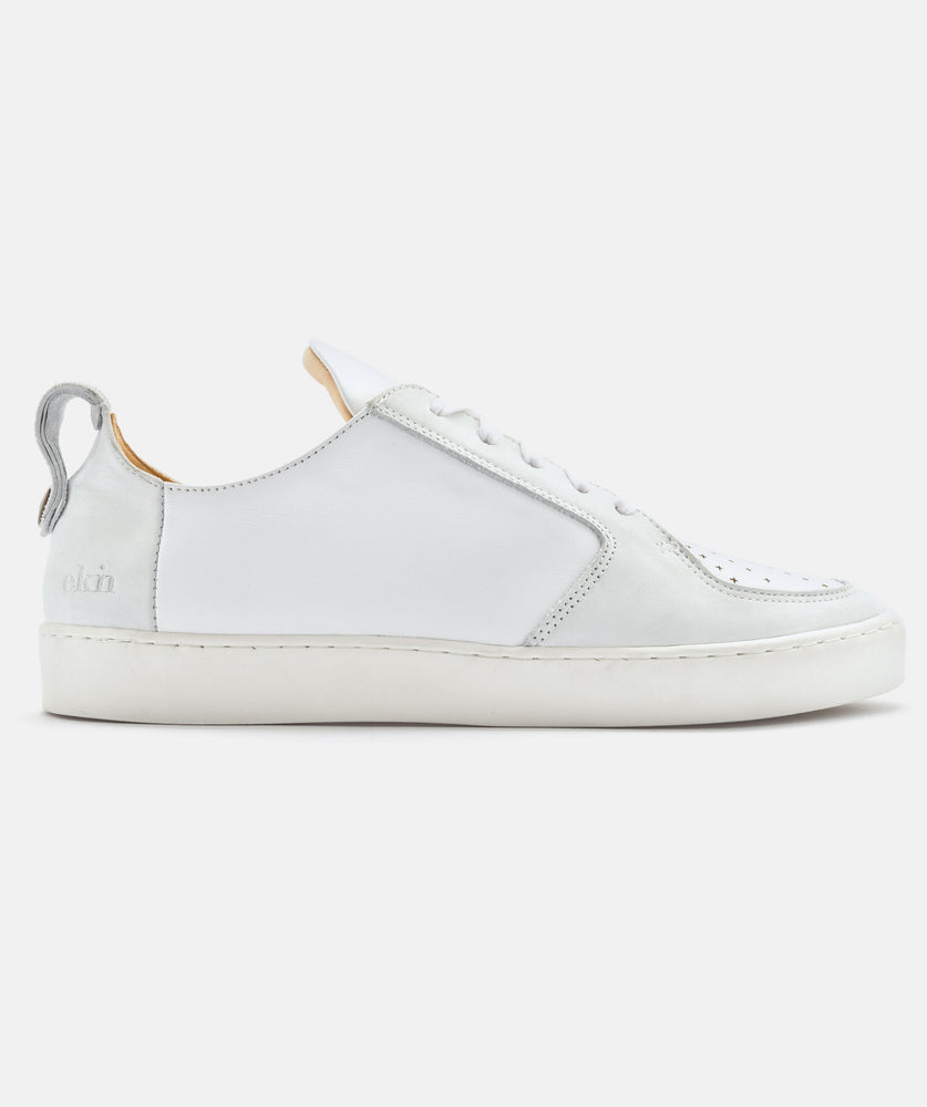 MAX HERRE ARGAN LOW - white leather & white sole