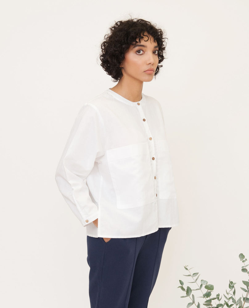 Bonnie Linen Shirt In White