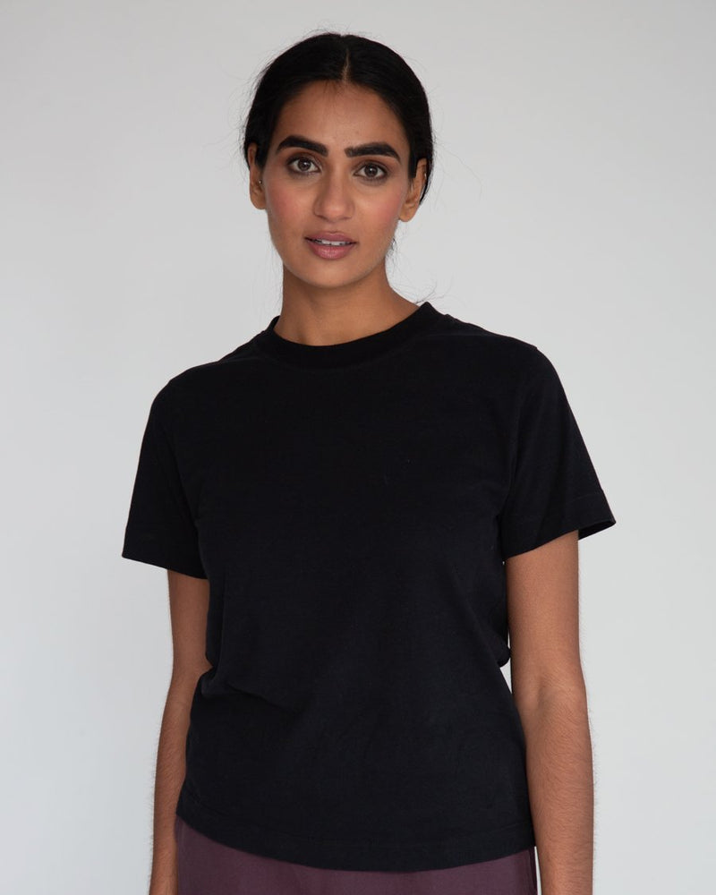 Maliah Organic Cotton Top - black