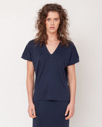 Joyce-Lou Lyocell Jersey Top In Midnight