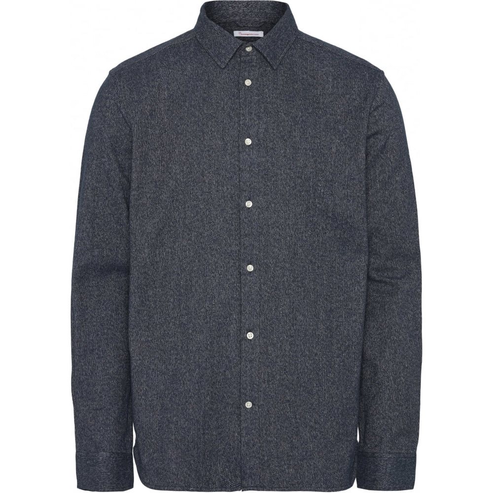 LARCH casual fit brused shirt - GOTS/Vegan - dark blue