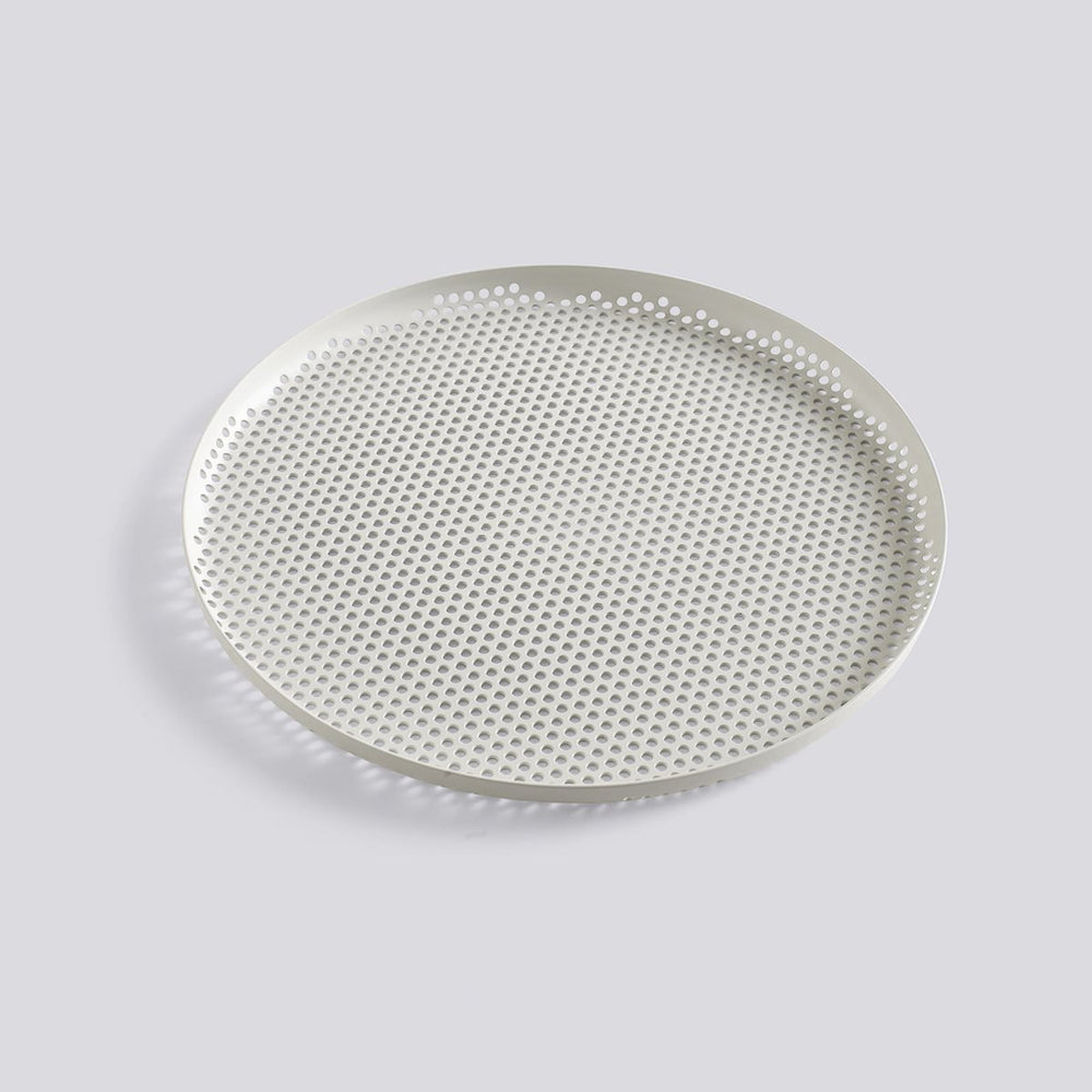 PERFORATED TRAY - L - SOFT GREY