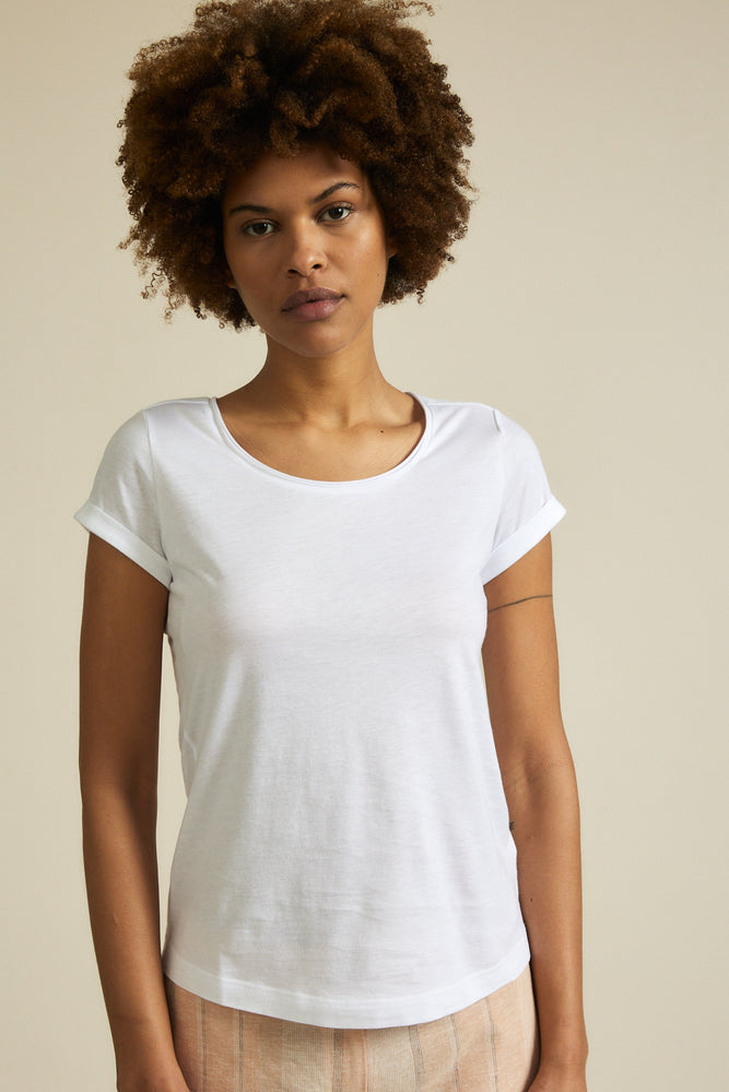 SHORT SLEEVE T-SHIRT (GOTS) -  white