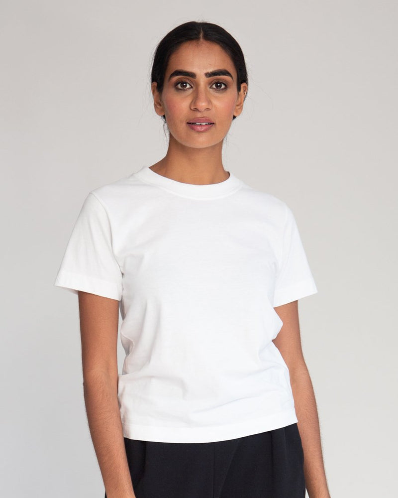 Maliah Organic Cotton Top - white