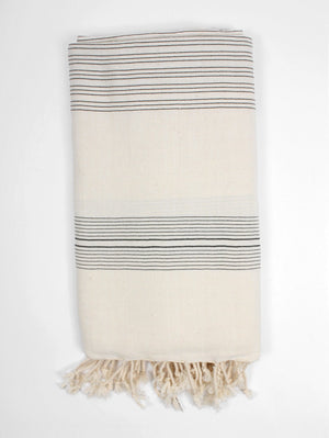LAMU HAMMAM TOWEL - BLACK