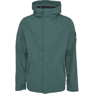 Soft shell hood jacket - OCS/Vegan - Bistro Green