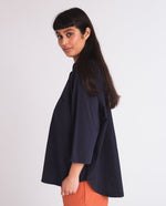 Stephanie Organic Cotton Shirt - navy