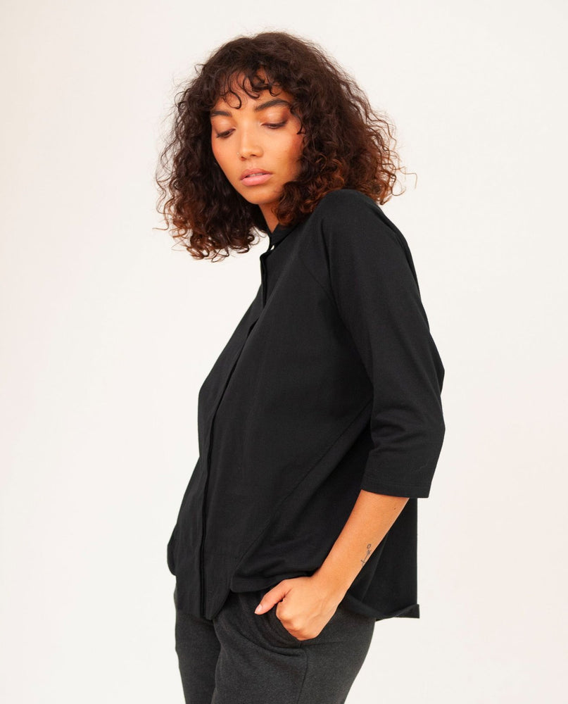 Terry Organic Cotton Shirt - black