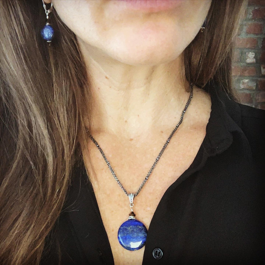 Travel The Globe Lapis Necklace