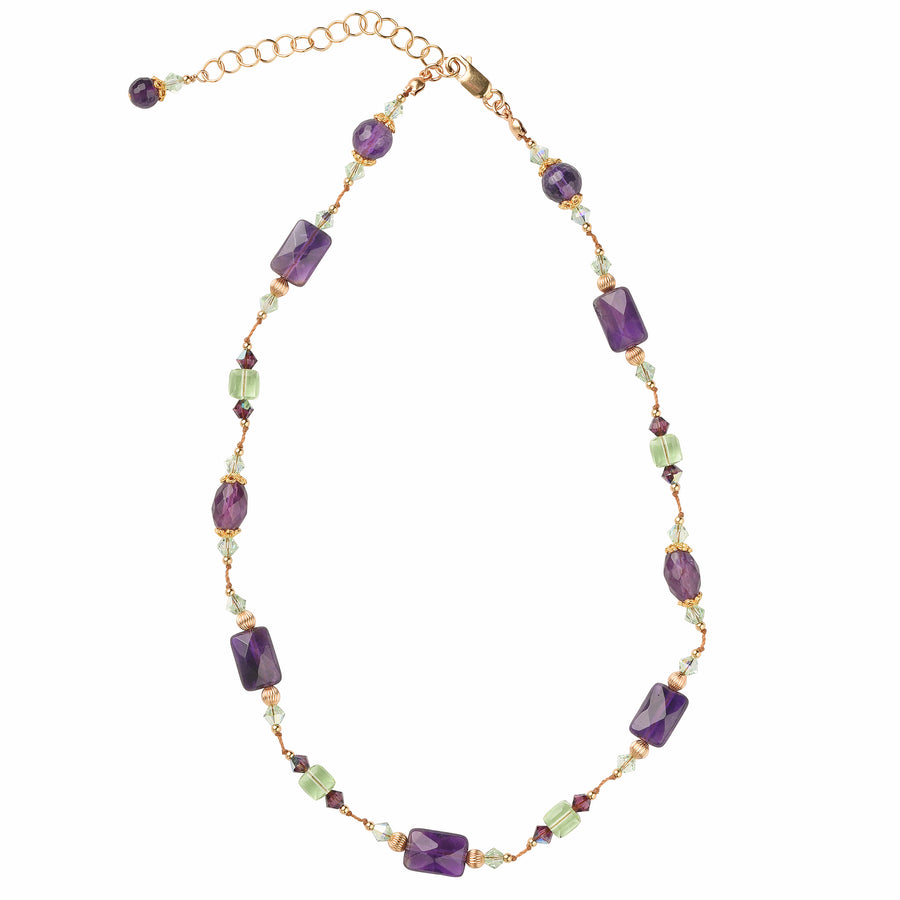 Knotty But Nice Amethyst Necklace - Trezana