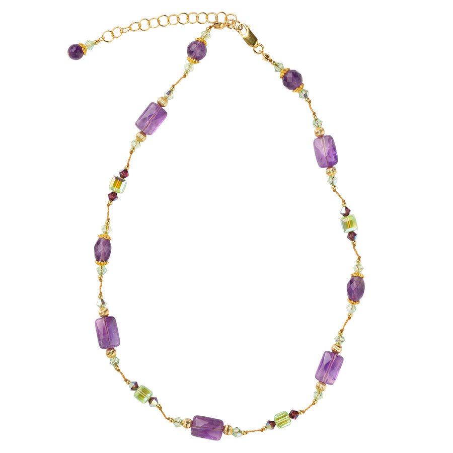 Knotty But Nice-ish Amethyst Necklace - Trezana