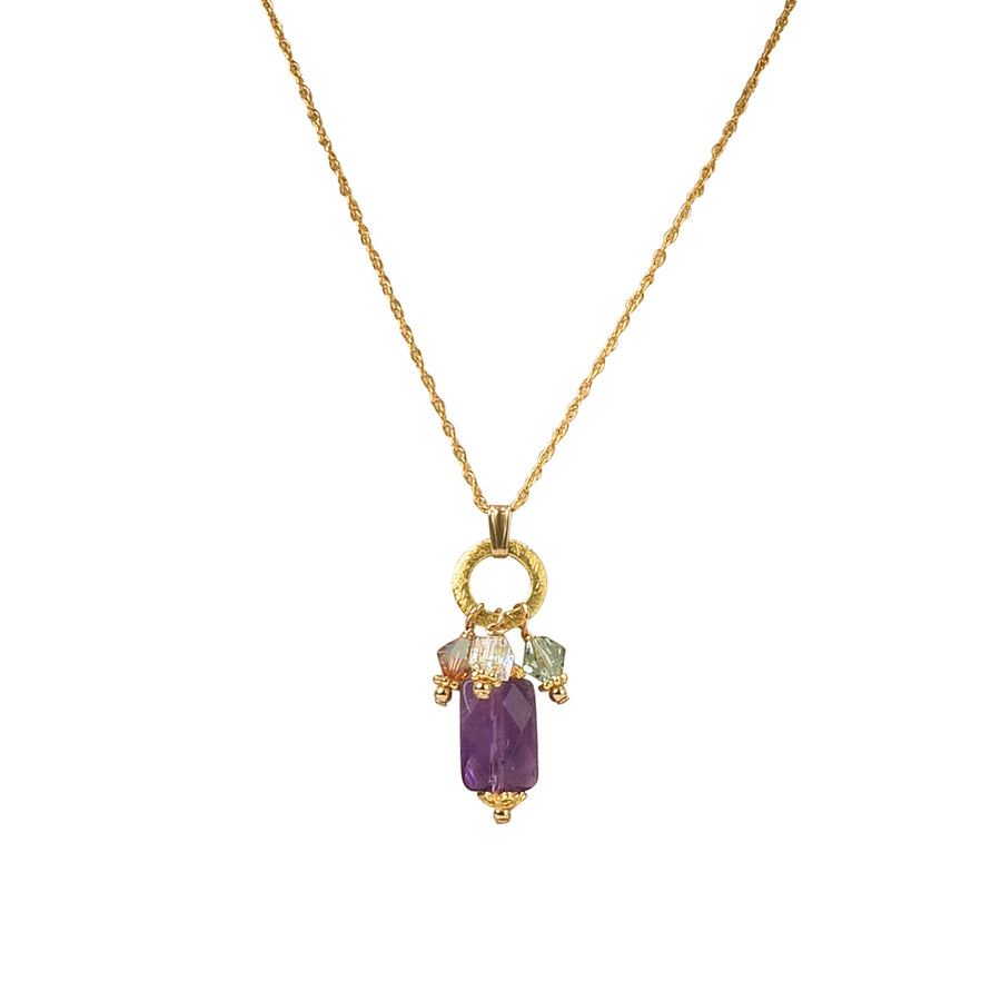 Charmed To Meet You Too Amethyst Necklace - Trezana
