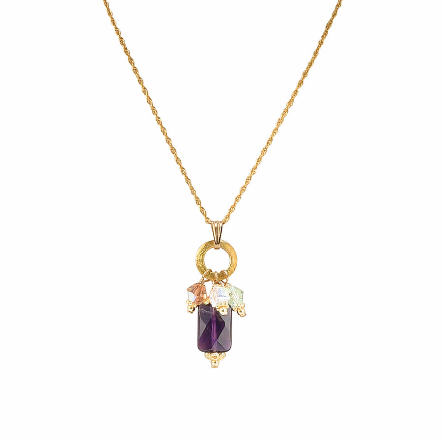 Charmed To Meet You Amethyst Necklace - Trezana
