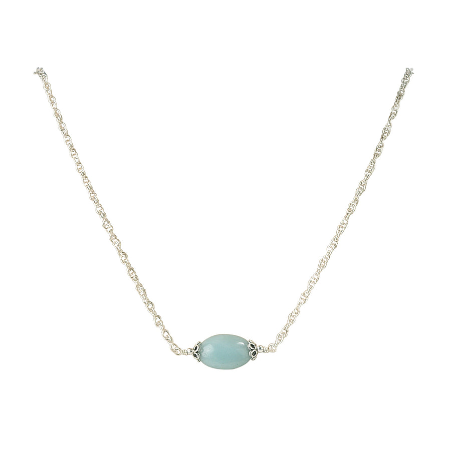 All Oval You Amazonite Necklace - Trezana