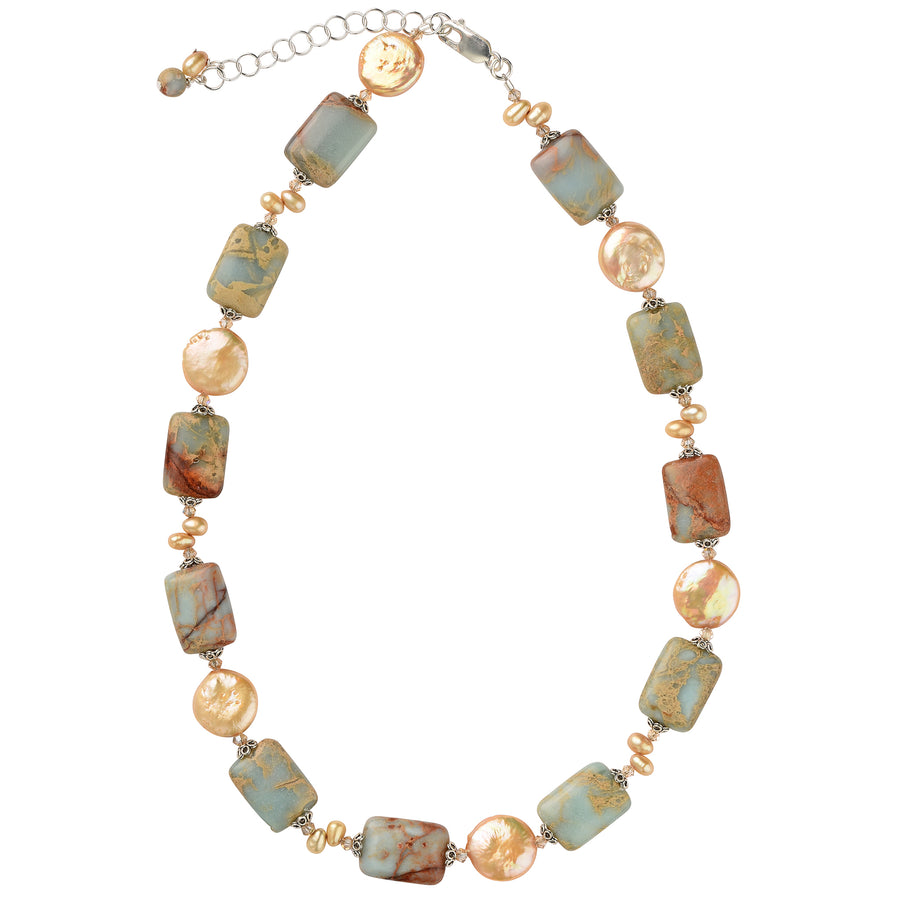 Champagne Summer Impression Jasper Necklace - Trezana