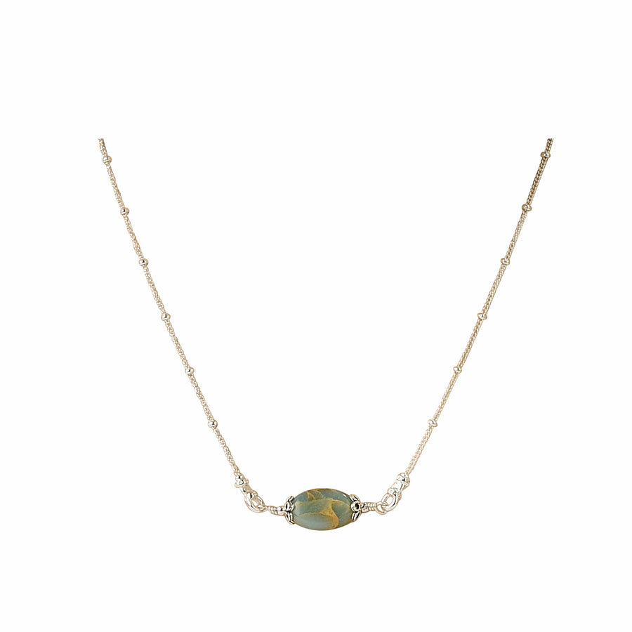 All Oval You Impression Jasper Necklace - Trezana