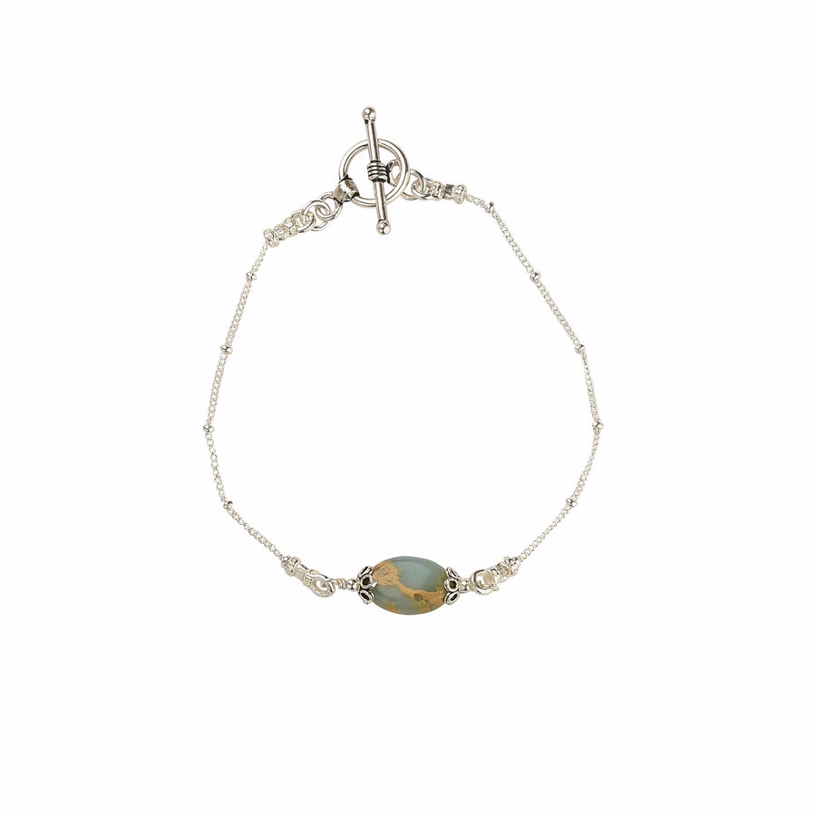 All Oval You Impression Jasper Bracelet - Trezana