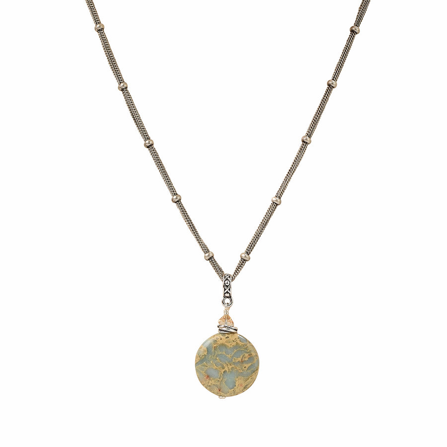 Travel The Globe Impression Jasper Necklace - Trezana