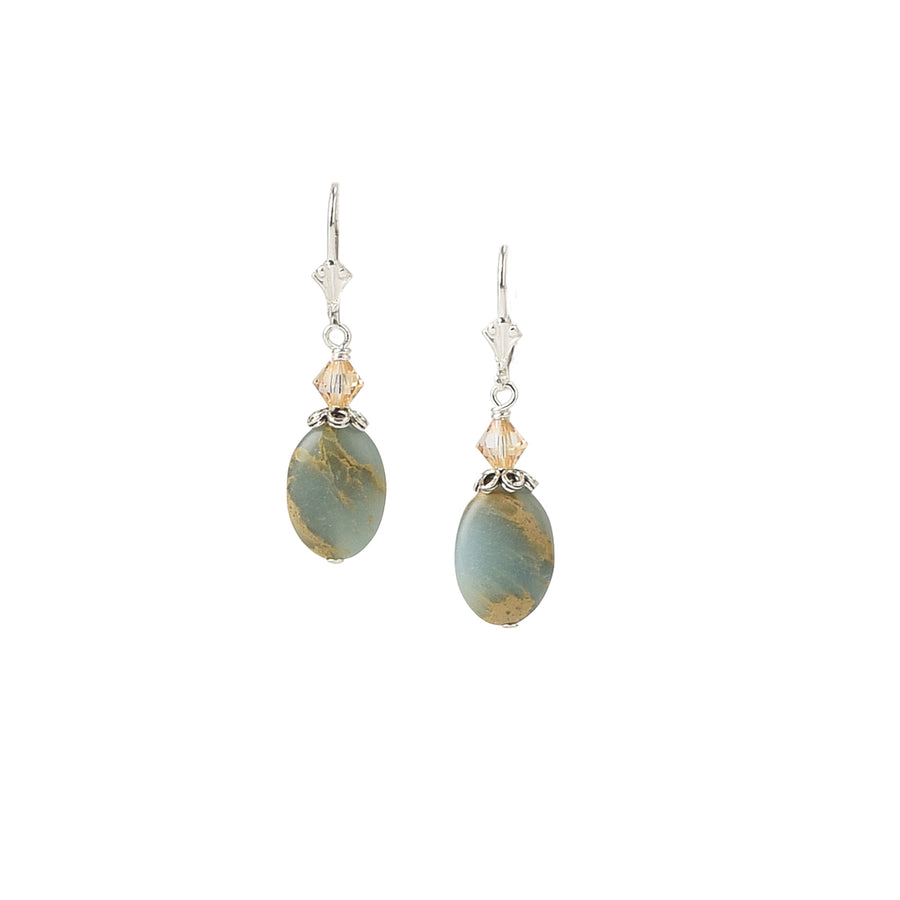 All Oval You Impression Jasper Earrings - Trezana