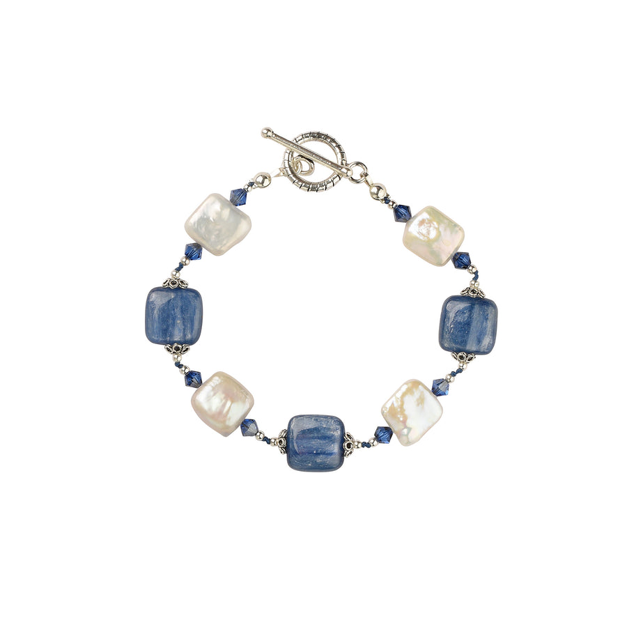 Knotty But Nice Kyanite Bracelet - Trezana