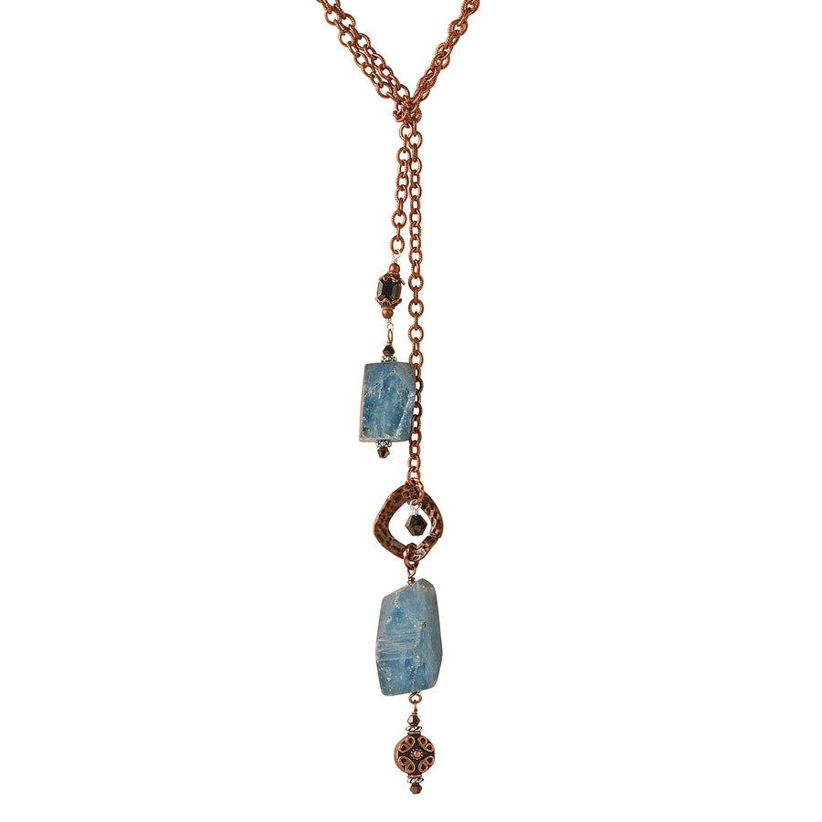 Statement Kyanite Lariat - Trezana