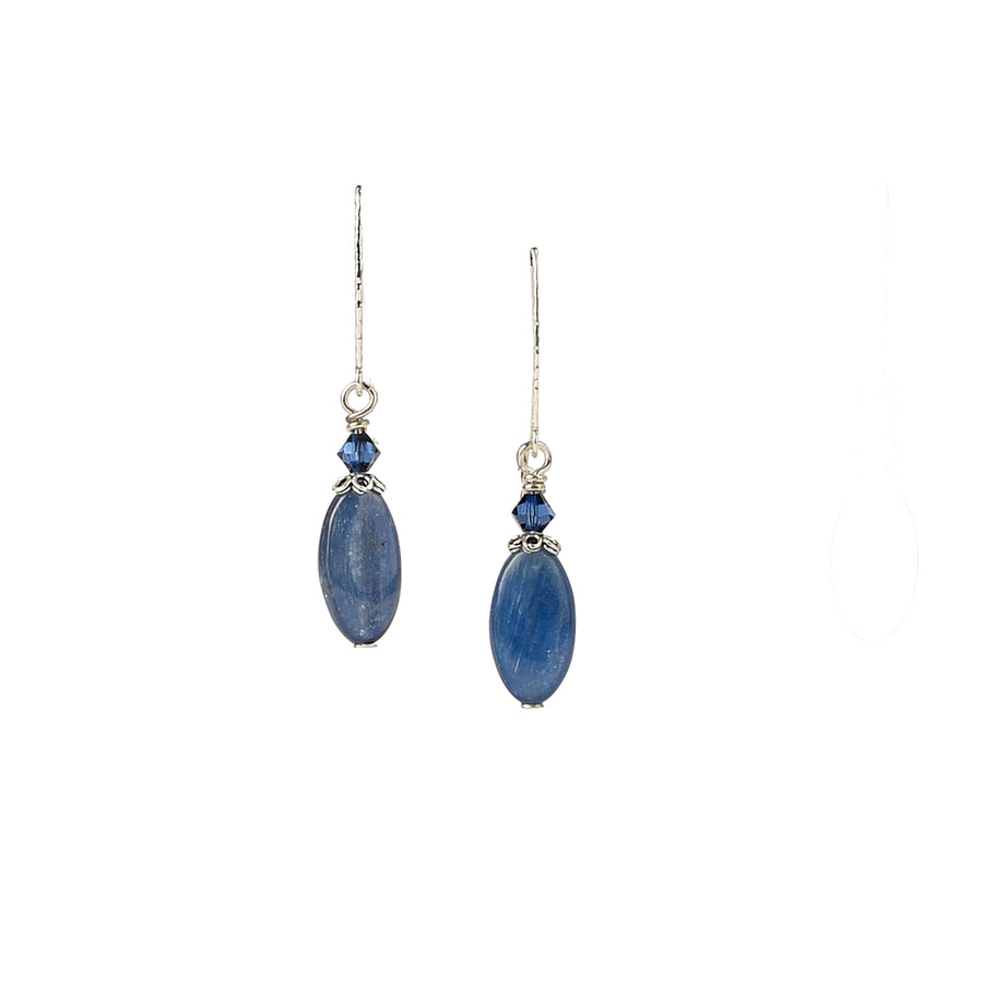 Fancy Oval Kyanite Earrings - Trezana