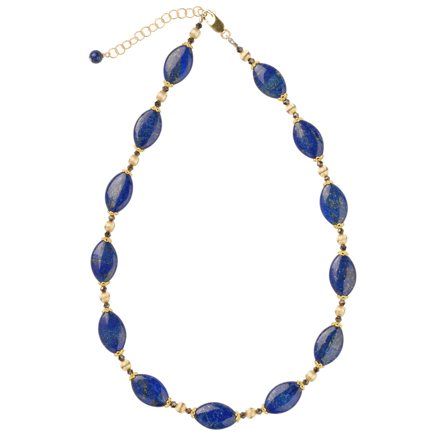 Golden Years Lapis Necklace - Trezana