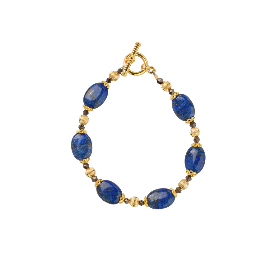 Golden Years Lapis Bracelet - Trezana