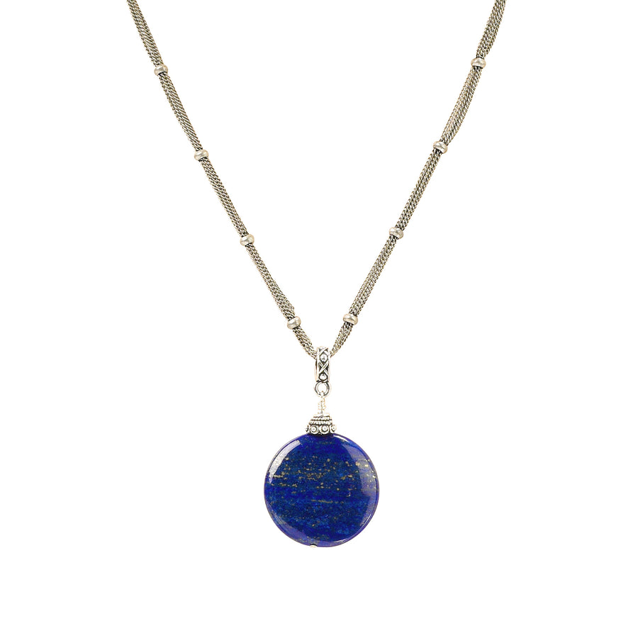 Travel The Globe Lapis Necklace - Trezana