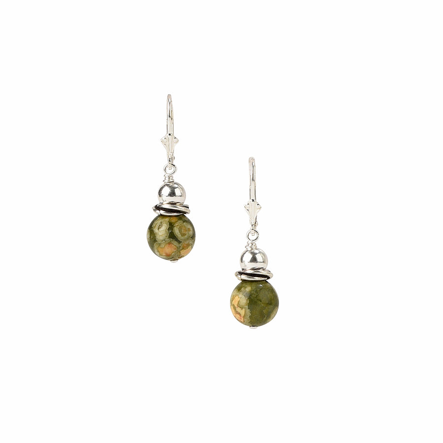 See You Round Rainforest Jasper Earrings - Trezana