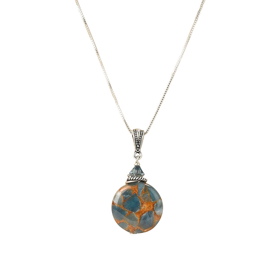 Travel The Globe Teal Blue Quartz Necklace - Trezana