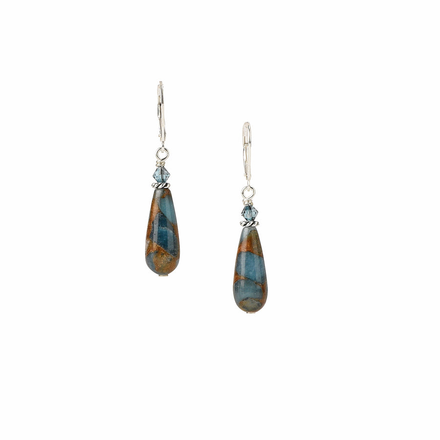 Drop Everything For You Teal Blue Quartz Earrings - Trezana