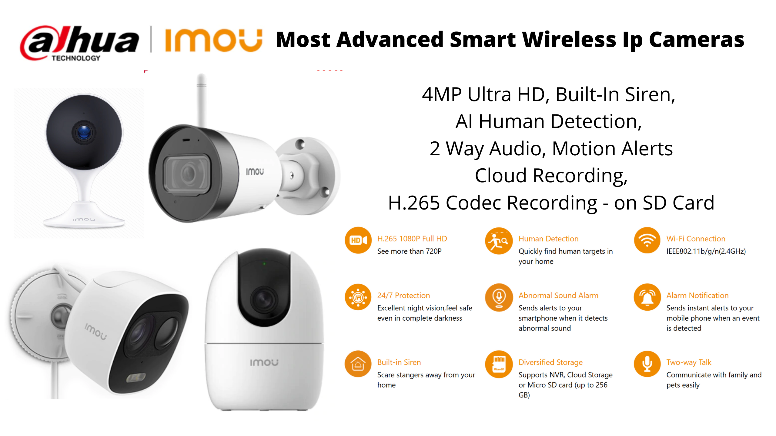 Imou by Dahua Wireless Cctv Cameras